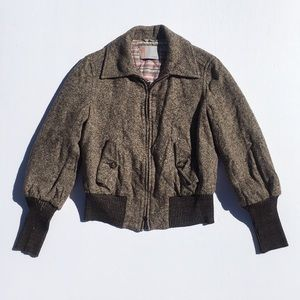 M Missoni Tweed Bomber Style Jacket
